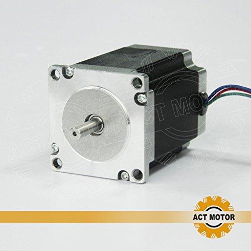 ACT Motor GmbH Nema23 1PC 23HS8430 76mm body 3A 1.9 Nm Round Shaft Ø 6.35mm Automation 3D-Printer Carver Machine, CNC Machine (Hybrid Power Supply)