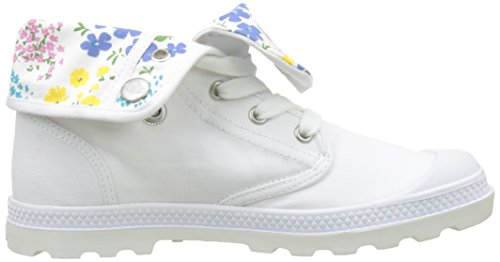 Palladium Baggy Low LP Femme, Sneaker a Collo Alto Donna Bianco (White/star White L68)
