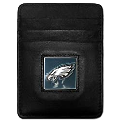 NFL Atlanta Falcons Leather Money Clip/Cardholder Packaged in Gift Box