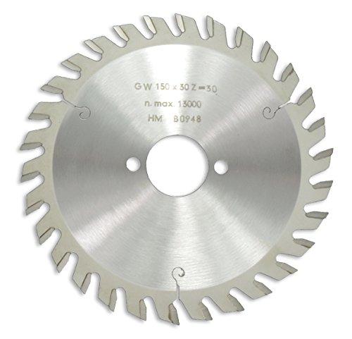 HM / HW Sägeblatt mit Nebenlöchern und Wechselzahn 150 x 30 mm mit 30 Zähnen Made in Germany (GE9a)