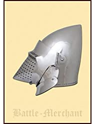 Perro gugel, aprox. 1400, para combate de exhibición Deko Casco schaukampftauglich Ritter Casco LARP Vikingo