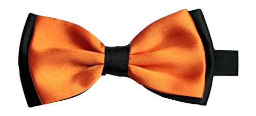 Satin pour homme orange luxury réglable & pIE (orange/noir)