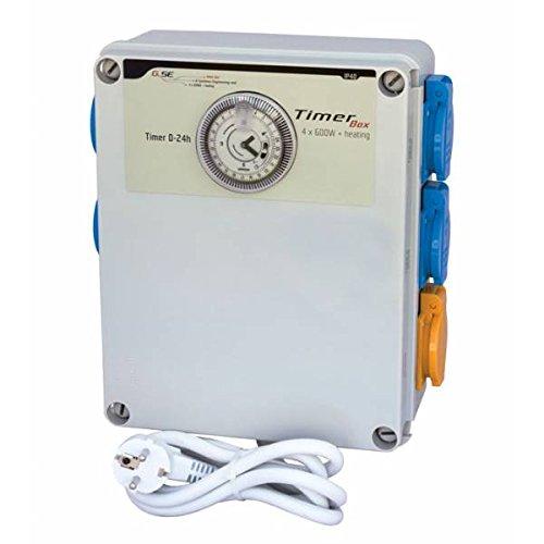Tableau électrique + Timer GSE Timer-Box II 4 x 600 W chauffage