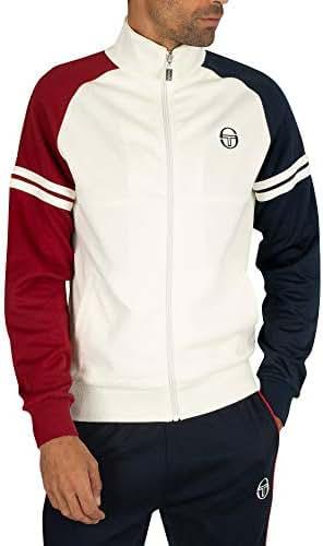 Sergio Tacchini Mens Track Top GHIBLI Retro Adult Casual Track Jacket Olive//Navy 36637 520 New