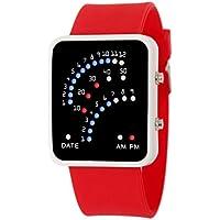 Vovotrade Nuova Moda uomo Mens futuristico stile giapponese LED sport orologio da polso (Rosso)
