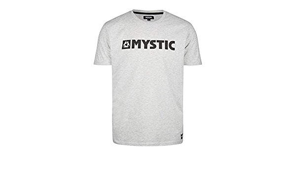 Surf Kitesurf et Windsurf Hommes Brand Tee T Shirt Top Sky D/écembre 50/% Coton // 50/% Polyester Mystic Sports Nautiques