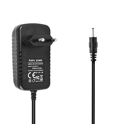 caricatore tablet Aukru 12V Caricatore Adattatore per Acer Iconia Tab A101 A210 A220 A500 A501 PSA18R Tab W3-810 A500 Packard Bell Liberty Tablet G100- Alimentatore Caricabatterie 12V 2A