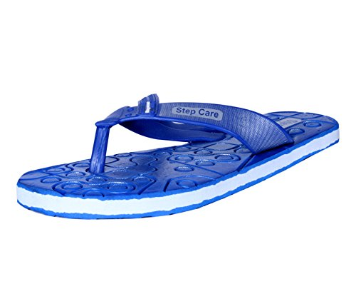 IndiWeaves Mens Flip Flop House Slipper And Hawaai Chappal_Blue_Size-8  available at amazon for Rs.199