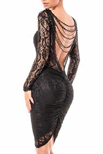 Dissa® femme Noir SY6755 robe de cocktail Noir