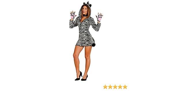 1bf80fe75087 Adult Sexy Zebra Girl Costume (Women: 8-12): Amazon.co.uk: Toys & Games