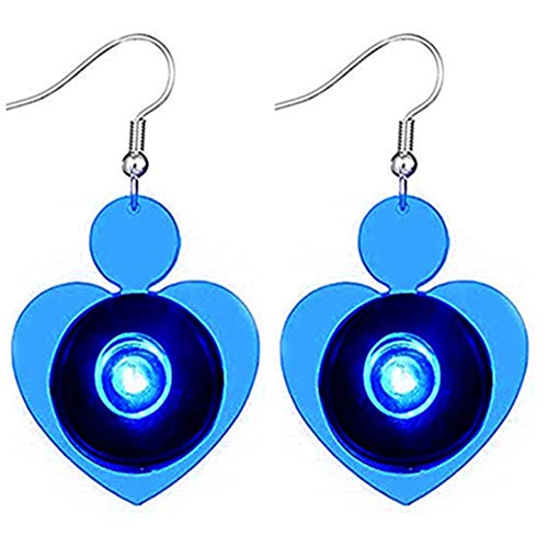 1 Para Edelstahl Herzform Ohrring LED Leuchten Helle Stud Glowing Kristall Ohrringe Für Mädchen Damen Männer Frauen Tanzen Party ()
