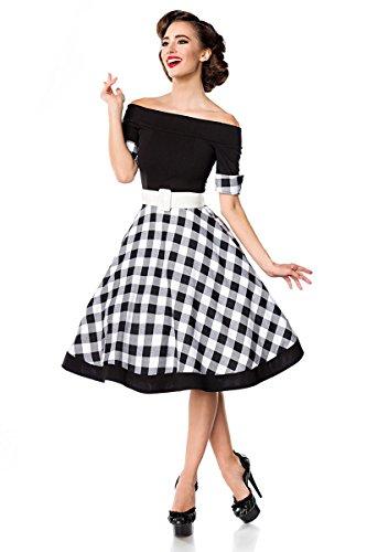Schulterfreies Retro Kleid mit Tellerrock XL