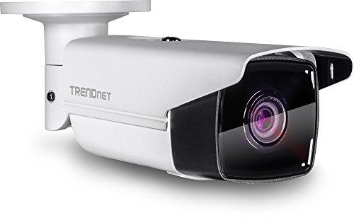 TRENDnet Indoor/Outdoor 5MP H.265 120dB WDR PoE Netzwerkkamera, Nachtsicht auf große Entfernung bis zu 80m (262 Fuß), Wetterschutzklasse IP67, TV-IP313PI