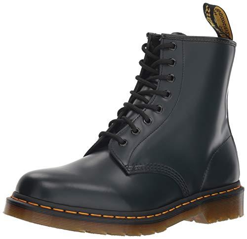 Herren Glatt Leder Stiefel (Dr. Martens 1460 Glatt, Erwachsene Unisex Stiefel,, Blau (Navy), 45 EU)