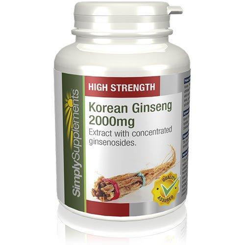 Ginseng Coreano 2000mg - 360 comprimidos - Hasta 1 año de suministro - Aumenta la energía y vitalidad - SimplySupplements