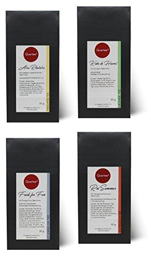 Eistee Set - 4 x Eistee für die heißen Sommer Tage - Tee im Sommer - 4 x 50 g von Quertee®