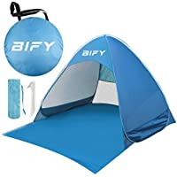 BIFY Pop-up Beach Tent Portable for1-3 Person,Automatic Instant Beach Tent Waterproof Anti-UV Shade Camping Tent for Beach, Garden, Camping, Fishing, Picnic