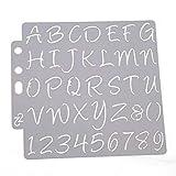 YFairy Malschablone – Alphabet Zahlen Schablonen Schablone Malerei Scrapbooking Prägung Stempeln Album Karte DIY