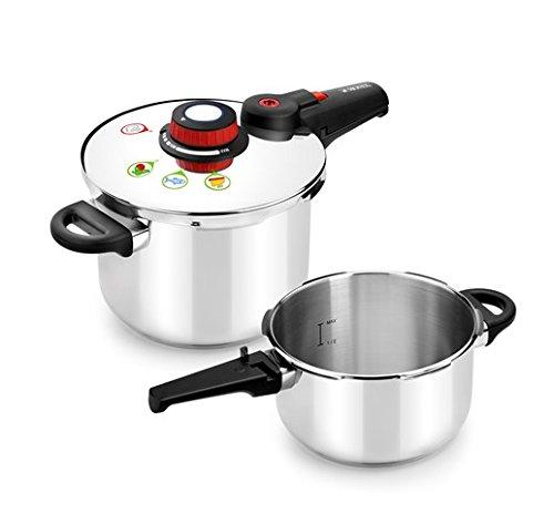 Monix Selecta Duo Set ollas a presión rápidas 4 y 6 litros con Sistema de selección de Alimentos...