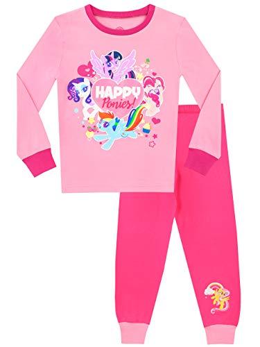 Mein Kleines Pony Mädchen My Little Pony Schlafanzug Slim Fit Rosa 128 (Pony Little Schlafanzug My)