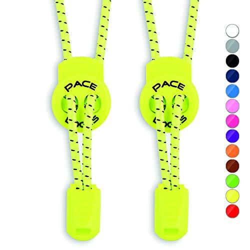ALPHAPACE Pace Locks Schnürsenkel Neon Gelb Gelbe Schuhe Neongelbe Sportschuhe 120 120cm Turnschuhe Elastische Damen Laufschuhe Schuhband Kinder Schnuersenkel Laces Lang Schuhbänder Herren Sneakers