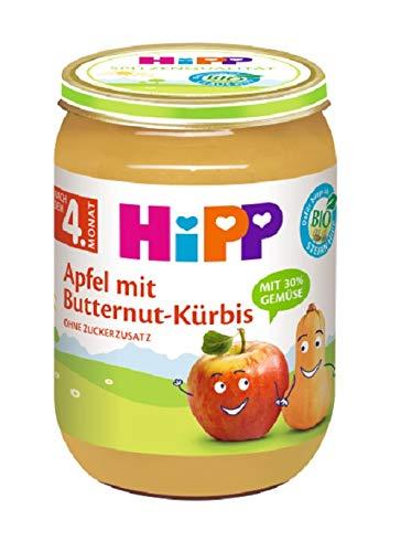 Hipp Frucht & Gemüse, Apfel-Butternut-Kürbis, 6er Pack (6 x 190 g)