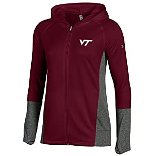 Under Armour Full-Zip NCAA Women's Tech Terry Lighweight Hood, Maroon, XXL