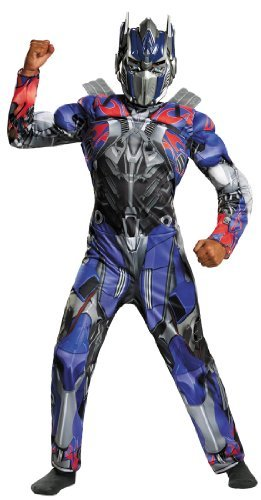 Classic Prime Optimus Kostüm - Disguise Hasbro Transformers Age of Extinction Movie Optimus Prime Classic Muscle Boys Costume, Medium/7-8