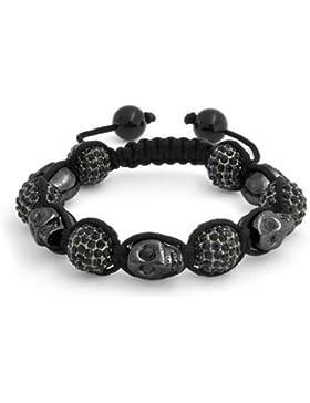 Bling Jewelry Shamballa Schwarzschädel Crystal Bead Armband Legierung inspiriert