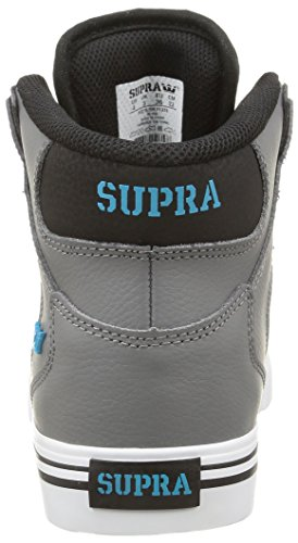 Supra Vaider, Unisex-Erwachsene Hohe Sneakers Grau (charcoal/black/turquoise/white)