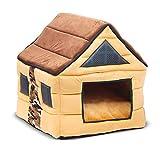 QNMM 2-in-1 Portatile Pet Impermeabile Caldo Casa Divano Letto Tenda Letto Perfetto Cave Dog House Cat Bed Divano Adatto per Gatto, Cucciolo
