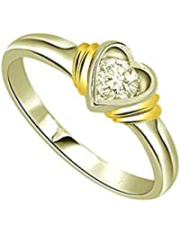 Surat Diamond 18k (750) Yellow Gold And Diamond Solitaire Ring - B01M6APMUY