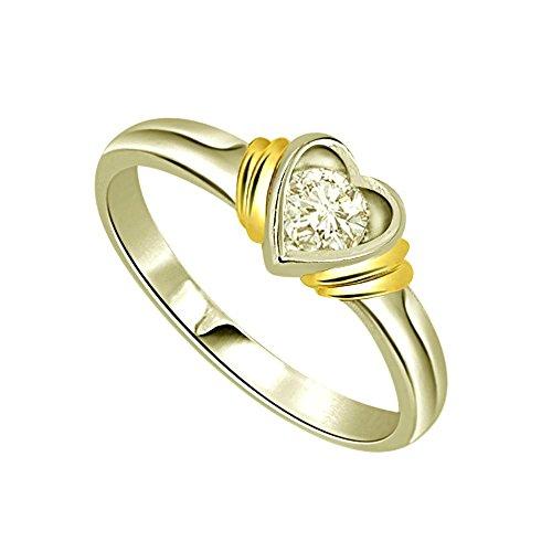 SURATDIAMOND Surat Diamond 18k (750) Yellow Gold and Diamond Solitaire Ring