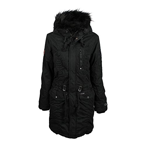 Khujo Damen, Winter, Jacke, Mantel, Anastina, 1190CO173-200, 200 black, M (Jacke Mantel Down-winter Kapuzen)
