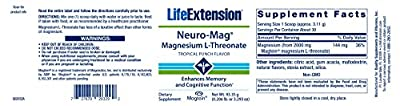 Life Extension Neuro-Mag Magnesium L-Threonate Powder, Tropical Punch Flavour, 93.35g