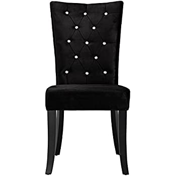 Comfy Homes Radiance Velvet Dining Chair (Black)   SINGLE CHAIR