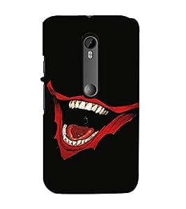 EPICCASE Evil Laugh Mobile Back Case Cover For Moto X Play (Designer Case)