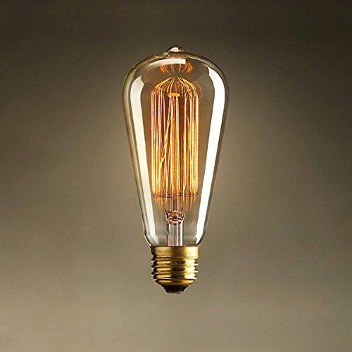 KINGSO E27 40W 220V ST64 Edison Lampe Warmweiß Vintage Stil Edison Glühbirne...