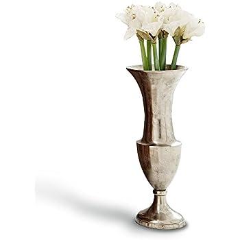 vase bodenvase gro aluminium rustikal metall pokal riesenvase shabby antik silber. Black Bedroom Furniture Sets. Home Design Ideas