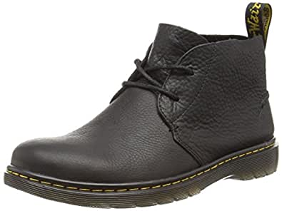 Dr. Martens Men's Ember Grizzly Black Unlined Desert Boots Half Shaft Boots and Bootees Black Size: 6 UK