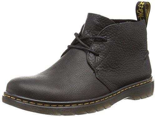 Dr. Martens Ember Grizzly Black, Bottes Type Desert Boots Non doublées - Hauteur à mi-Mollet Homme
