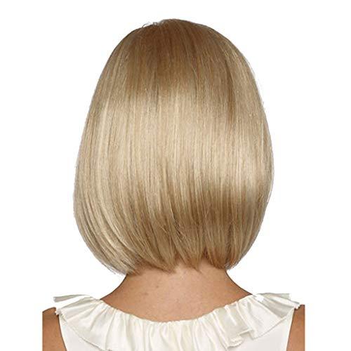 Damen Natürliche Partei lange gerade Goldfarben Haar synthetische Perücke