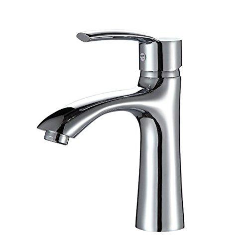 mmer Basin Wasserhahn Einzigen Handgriff Einlochmontage Becken Mischbatterie Messing Badewanne Vanity Vessel Waschbecken Armaturen Wasserhähne (Vessel Waschbecken Wasserhahn Chrom)
