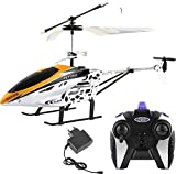 K&F Deals Kids Plastic Flying Helicopter with Remote (Multicolour)