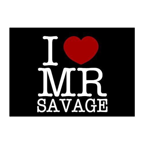 Teeburon I love Mr Savage Aufkleber Packung x4 -