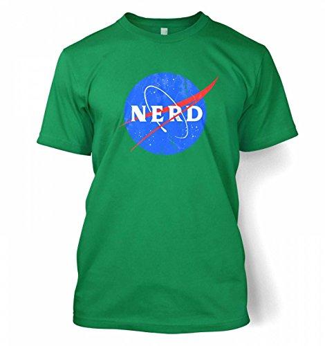 Nerd NASA logo Männer T-Shirt Kelly Grün
