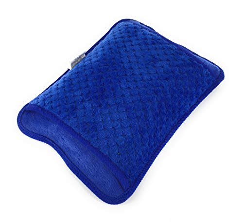 Bolsa agua caliente electrica azul recargable dolor