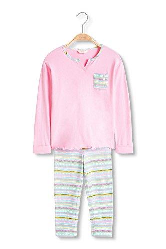 Esprit Kids Mädchen Zweiteiliger Schlafanzug Hannalee MG Pyjama 1/1, Blau (Turquoise 470), 128 (Herstellergröße: 128/134)