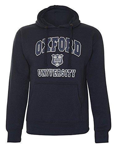 Oxford Univeristy -  Felpa con cappuccio  - Uomo Blu navy Large