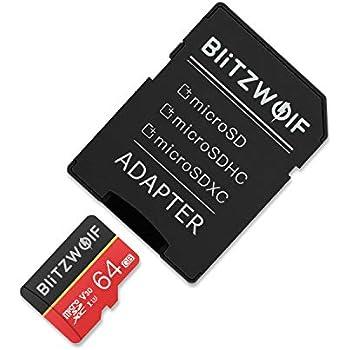 BlitzWolf Tarjeta de Memoria, 64GB Tarjeta Memoria microSDXC con ...